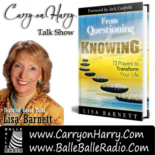 Studio guest Lisa Barnett has devoted her life as a divine channel to help people connect to their divinity
