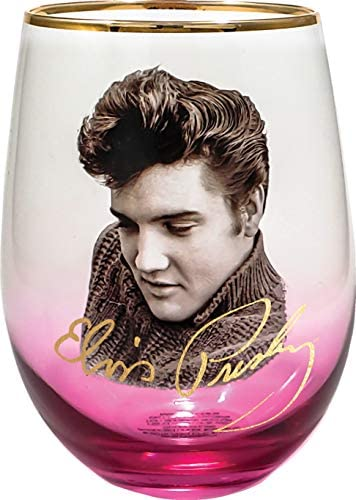 Spoontiques Elvis Stemless Glass, 20 ounces, Pink