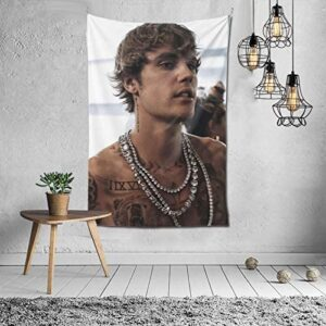 Ju-Stin Bi-Eber Tapestries Art Poster Wall Hanging Throw Tablecloth Tapestry for Bedroom Living Room Dorm Room (60x40in)