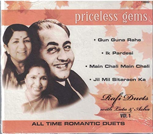 Priceless Gems...Rafi Duet with Lata & Asha Vol.1...All Time Romantic Duets (Brand New Single Disc Audio Cd, Released By SaReGaMa/RPG)