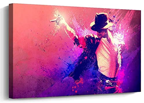 AGCary Michael Jackson Poster Frame Print Canvas Painting Picture Wall Art for Home Office Decorations Wall Decor 12 x 16
