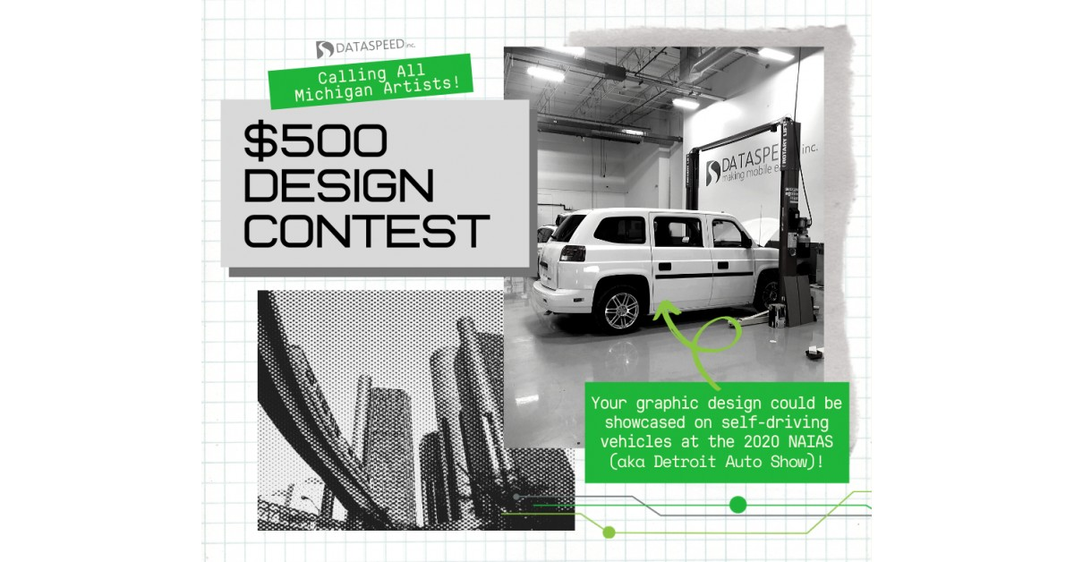 Dataspeed Inc. Holds Graphic Design Contest for Self-Driving Vehicles Being Demonstrated at the 2020 North American International Auto Show