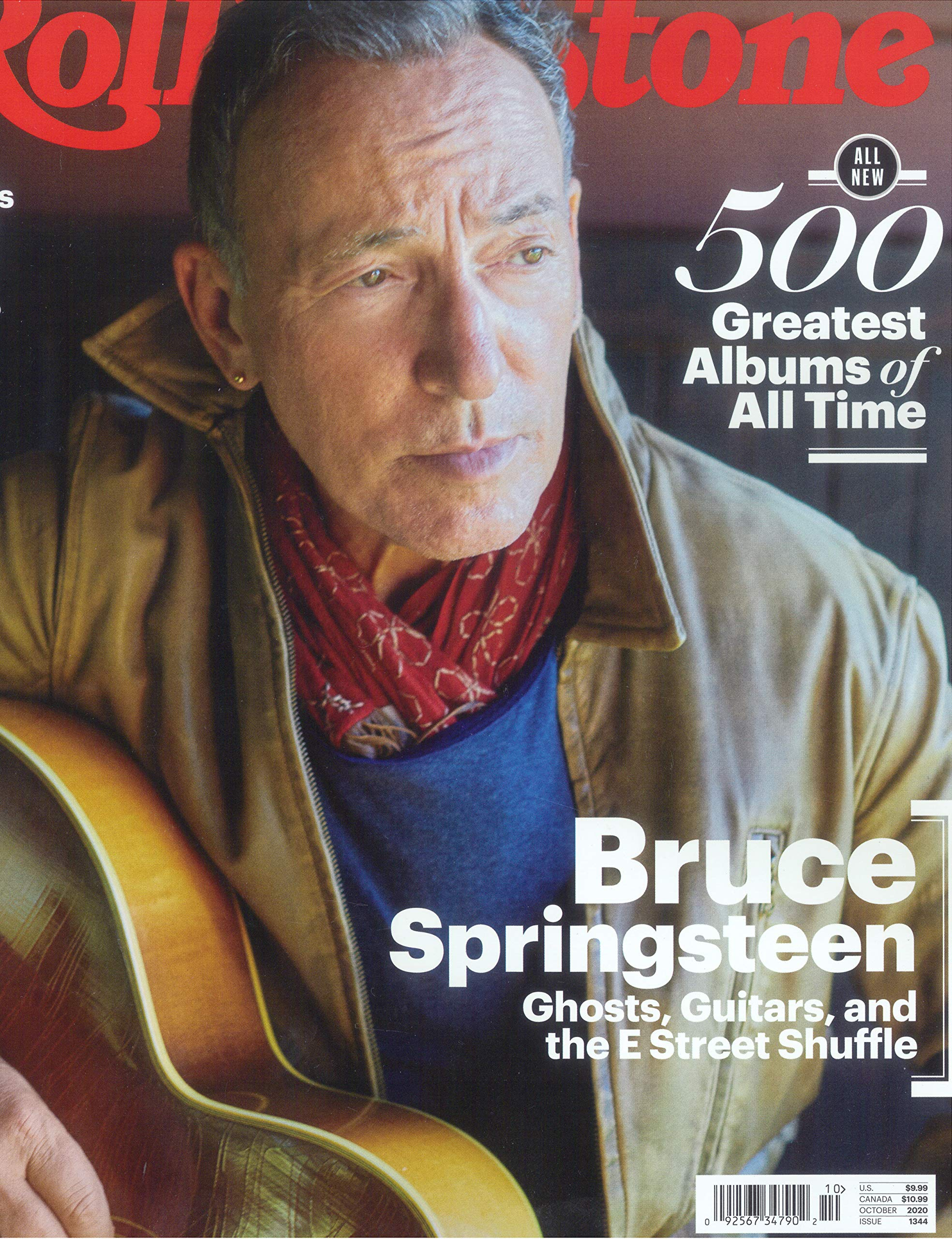 Rolling Stone Magazine (October, 2020) 500 Greatest Albums of All Time Bruce Springsteen Cover